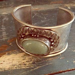 Silver bracelet Native American style